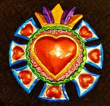 Mexican Tin Heart  Decoration /Milagros