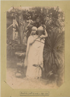 Rachel en 1891 Vintage albumen print Tirage albuminé  13x18  1891