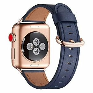 Genuine Leather Replacement Strap for Apple Watch 38 40 42mm Series 5 4 SE Band