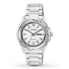 Citizen Eco-Drive Men's AW0031-52A HTM White Dial Sport Bracelet Watch