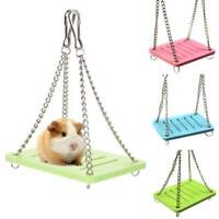 Wooden Hamster Swing Toy Rat Bird Mouse Exercise Cage Hanging Toy Pet Supplies