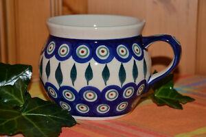 Bunzlauer Keramik Tasse/ Kugelbecher gr Dek. 56 0,42l