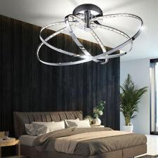Decken LED Luxus Leuchte Lampe Design Ringe Chrom drehbar Ess Zimmer Beleuchtung