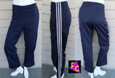 Vtg 70s 80s Polyester Adidas jogging pants Breakdance 3 stripe M 36 Blue Running