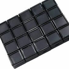 100 Pcs 3x3 cm Gem Display Black plastic box Storage for Gemstones/Diamond