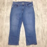 Women's LEVI'S Medium Wash Blue Mid Rise Straight Jeans Capris Capri Pants Sz 30
