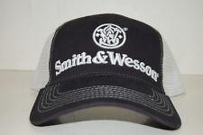 eaf9be4b68dddc Smith & Wesson Navy Blue & White Mesh Trucker Logo Hat