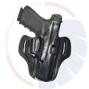 Fits GLOCK 17 22 31_19 23 25 32 36 38 Thumb Break OWB Leather Gun Holster