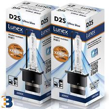 2 x D2S Genuine LUNEX XENON BULBS P32d-2 Original 35W 6000K Ultra Blue 6000K