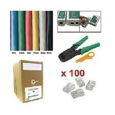1000 Ft CAT5E UTP Network Cable Tester Crimper Connector