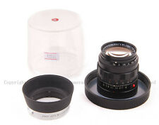 Rare Leica Leitz Summilux 50mm f/1.4 1st version Black Paint 50/1.4 w/ Hood