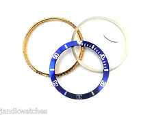 Gold Plated Bezel Combo Set for Fit Rolex Submariner Blue & Gold 16800