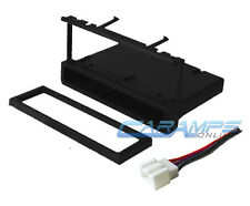 CAR STEREO RADIO CD PLAYER DASH INSTALLATION MOUNT TRIM KIT WITH WIRING HARNESS