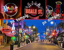 Tennessee - Memphis - BEALE ST - Travel Souvenir Fridge Magnet