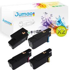 Lot de 8 Toners d'impression type Jumao Noir, Cyan, Jaune,Magenta pour Dell E525