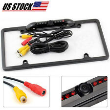 Rear View Backup Parking Camera Night Vision and US License Plate Frame for Auto