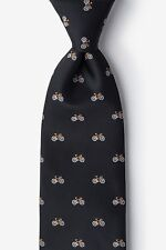 Men's Microfiber Black Bike Bicycle Cycling Novelty Necktie Tie Neckwear