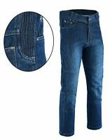 BLUE, W38 - L32 Men/'s Motorbike Motorcycle Biker Safety Protective Lining Denim Armour Padded Reinforced Trouser Jeans Pant