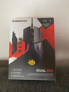 NEW*SteelSeries - Rival 600 Wired Optical Gaming Mouse with RGB Lighting