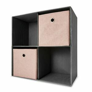 4 Cube Storage Shelf Rack Bookcase Cabinet Organizer Bookshelf Book Display UniQ