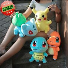 Lots 4pcs Pokemon Plush Toys Pikachu Bulbasaur Squirtle Charmander Action Toy
