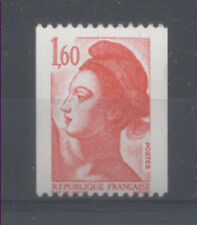 FRANCE TIMBRE ROULETTE 2192a N° rouge au verso LIBERTE rouge - LUXE **