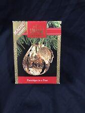 Vintage 1990 Partridges in a Pear Tree Hallmark Ornament Qlx7212 Light