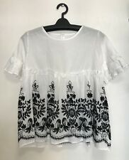 WHITE BANGKOK WOMEN'S BLOUSE - SMALL MEDIUM