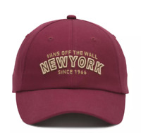 Vans New York NYC Adjustable Hat Baseball Cap - Red Port