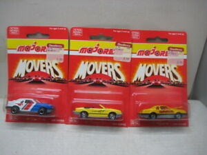 MAJORETTE MOVERS SERIES 200 LOT OF 3 FORD MUSTANG  & T BIRD #217, #220, #227 &