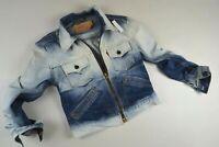 VINTAGE LEVIS Dip Dye TRUCKER 'ZIP' Denim Jacket size M uk 12 women ladies girls
