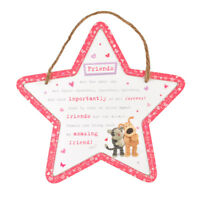 Boofle Wooden Star Shaped Amazing Friend Plaque Lovely Gift Idea