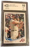 Evan Gattis 2013 Topps #418 Braves Rookie Card BCCG GRADED 10