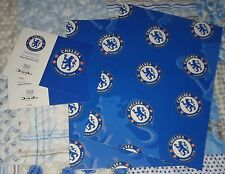 OFFICIAL CHELSEA FC BIRTHDAY GIFT WRAPPING PAPER PACK (2 SHEETS & 2 TAGS)
