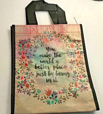 "Natural Life recycled plastic bag.9.25""H x8""W Medium Gift  Bag  You make world"