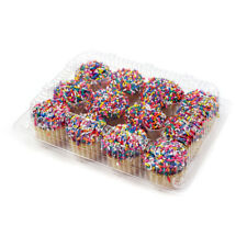 Hinged Clear Plastic Container for 12 Mini Muffins, Case of 300