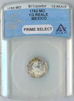 El Cazador Shipwreck Coin 1/2 Reales 1783 MO ANACS Certified Prime Select