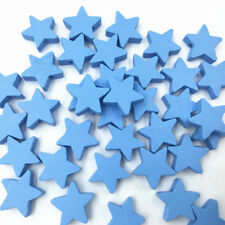 50pcs Blue Star shape Wood Beads Spacer Bead Baby Pacifier Clip Jewelry Making