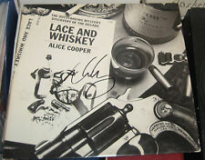 ALICE COOPER HEAVY METAL ROCK SIGNED AUTOGRAPHED LACE AND WHISKEY ALBUM COA 1977