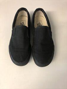 Vans Slip On Black Trainers - Size 4