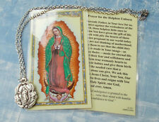 "Our Lady of Guadalupe pendant on 18"" chain w card"