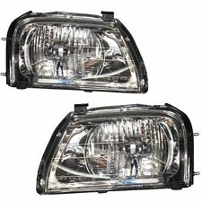 Mitsubishi L200 Mk1 1996-2006 Headlights Headlamps 1 Pair O/S And N/S