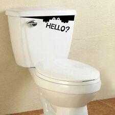 Hello Bathroom Decal Funny vinyl sticker wall art NEW Creative Toilet