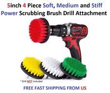 5inch 4 Piece Soft, Medium and Stiff Power Scrubbing Brush Drill Attachment