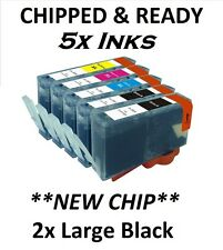 NOW INK 5 GENERIC CHIPPED INK CARTRIDGES FOR HP364 5524 6510 6520 7510 7520 5510
