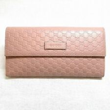 GUCCI Pink Wallet microguccissima Soft Pink GG Flap Over Sig Italy Leather New