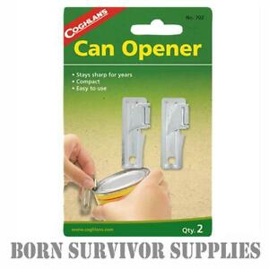 COGHLAN'S CAN OPENER (2 Pack) Strong Quality Army P38 GI Mini Tin Openers Ration