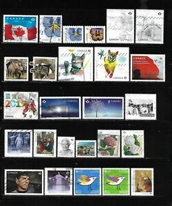 Canada year 2015-2016 all different used stamps off paper #4
