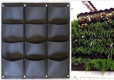 Garden Vertical Planter Multi Pocket Wall Mount Living Growing Bag Felt Pot 3x4