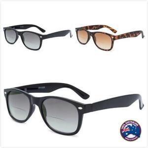 Bifocal Mens Ladies Magnifying Trendy Reading Sunglasses Tinted Glasses Nerd